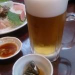大衆割烹 日本 流山店 - ビール大ジョッキ