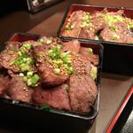 昇家 正々堂 - ご飯大盛り、肉増し&普通盛り