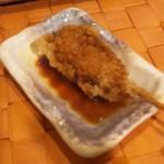名代 串揚げ 松葉 - マグロ    甘辛く味付けされています