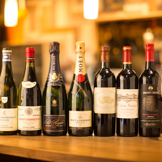 気軽に飲めるものから高級ワインまで選りすぐりのラインナップ