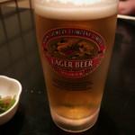 味楽 - 生ビール