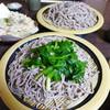 小代 行川庵 - 料理写真:手前が、ご当地名物のにらそば。