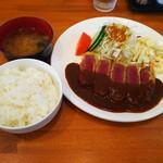 洋食の藤 - 牛ヒレビフカツ定食