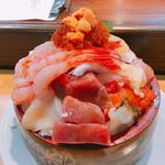 寿司のまつくら - ジャンボ生ちらし \3560