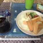 珈琲館藍 - 料理写真:モーニングセット・アイスコーヒー