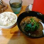 中華そば de 小松 - 台湾風かつおとろみ麺(大腸麺線) 台湾風鶏御飯付