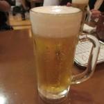 ふみ勝 - 取りあえずのビールで先ずは乾杯です。
