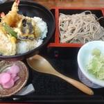 71520961 - 天丼と中鉢そばセット(1240円)