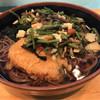 やなぎ庵 - 料理写真:山菜そば420円。コロッケ 150円。