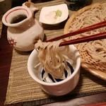 酒縁蕎亭 渉の盃 - 「桜切り蕎麦」を日本酒につけて。