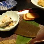 唐橋茶屋 - えご刺身、はたはた鮨、いぶりがっこ