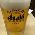 春駒 支店 - 生ビール アサヒジョッキ