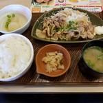 ガスト - 豚肉の生姜焼き和膳