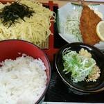 呑み喰い処 奥飛騨 - ざるラーメン定食(680円)