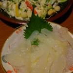 海山亭いっちょう - クラゲ刺しはコリコリで、数の子に食感似てるかも。