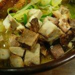 虎龍 - 味噌(全部のせ):ブロック チャーシュー