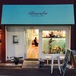 アラウカーリア コーヒー ビーンズ バンク - 奥がカフェスペース