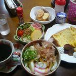 ペンション&カフェ花多來 - 料理写真:宿泊者朝食例