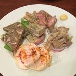 ブッチャーズ+バル - 肉の前菜5種盛り780円(税抜き)