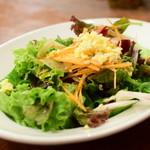 青いナポリ - セットのサラダ