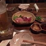 71537603 - お造り+生ビール