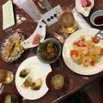 石和名湯館 糸柳 - 料理写真:取り分けたお料理
