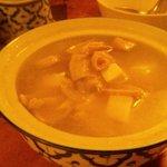 まんごや - ホルモンと高菜のスープ