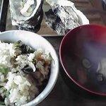 世古牡蠣店 - ご飯とお吸い物