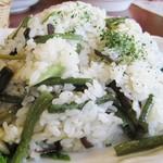 レストラン ペチカ - レストラン ペチカ@諏訪郡 山菜ピラフのアップ