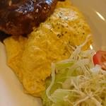 ライス オン ライス - 料理写真:オムライス&ハンバーグ  デミグラスソース・味は薄め