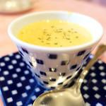 71544047 - スープ かぼちゃとコーンクリームスープ