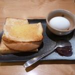 コメダ和喫茶 おかげ庵 - おぐらトーストのセット