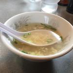 ドンドン飯店 - 丼物にはスープが。