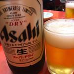 亀戸ぎょうざ - ビール 大瓶(550円)