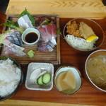 平塚漁港の食堂 - おまかせ刺盛膳