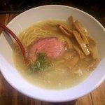 麺肆 秀膽 - ラーメン(塩)+メンマ(上から)
