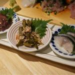 日本のお酒と浜焼料理‐ウラオンサカバ‐ - 店主おまかせ☆アテ3種盛り