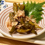 日本のお酒と浜焼料理‐ウラオンサカバ‐ - 青唐辛子の醤油漬け