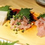日本のお酒と浜焼料理‐ウラオンサカバ‐ - 旬の魚を仕入れてます☆刺身盛り合わせ