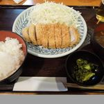 とんかつ武蔵野 - 肥後あそび豚ロース(定食)
