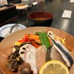 71552415 - 岡山ばら寿司(みそ汁付き)/1,620円