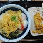 丸亀製麺 - 明太釜玉 得盛 かしわ天と鶏天