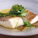 TENZO - 天然鯛の昆布蒸し カラスミと三つ葉添え