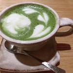 茶CAFE 竹若 - 抹茶ラテ 750円