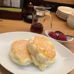 むさしの森珈琲 - むさしの森珈琲特製ふわっとろパンケーキ &カシスソルベ