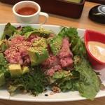むさしの森珈琲 - キアヌ・アマニ・発芽玄米といただくまぐろアボカドGOHAN(スープ付)