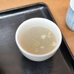 鳥めし 鳥藤 - つけあわせのスープ