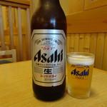 はまぐり食道 - 瓶ビール大(750円)