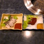 食道園 - センマイ刺し \700 生レバー \700