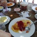 つぼや - 料理写真:オムライスとアイスウインナコーヒー